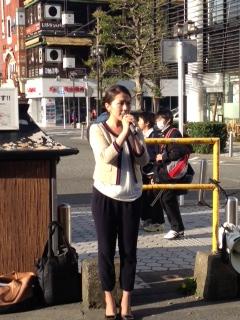 先日、鎌倉東急前で街頭演説をさせていただきました。