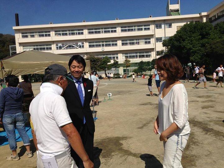 駆けつけてくださった松尾市長と市民の皆さんと話に花が咲きました。